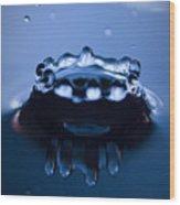 Water Droplet Crown Wood Print