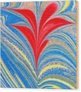 Water Marbling Art, Ebru Wood Print