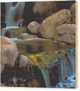 Waterfall On Maui Wood Print