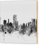Wellington New Zealand Skyline Wood Print