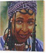 Winnie Mandela Wood Print by Shahid Muqaddim