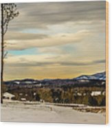 Winter Landscape And Snow Covered Roads In The Mountains Wood Print