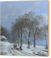 Winterlandschap Wood Print