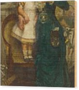 Woman With Child And Goldfish Wood Print