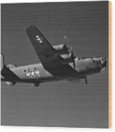 Wwii Us Aircraft In Flight Wood Print