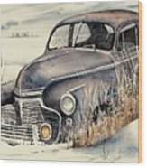 40 Chevy Wood Print