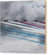 Red Arrows Wood Print