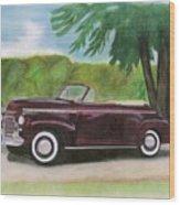 42 Chevy Wood Print