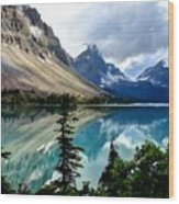J C Landscape Wood Print