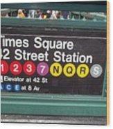 42 Street Station Nyc Wood Print