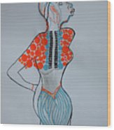 Dinka Lady - South Sudan Wood Print