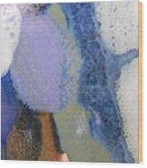 44. Blue Purple White Glaze Painting Wood Print