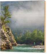 Landscape Luminous Wood Print