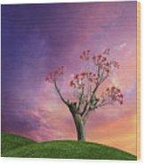 4451 Wood Print