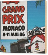 44th Monaco Grand Prix 1986 Wood Print