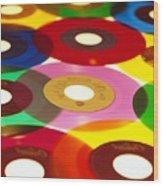 45 Rpm Wood Print