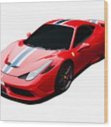 458 Speciale Wood Print
