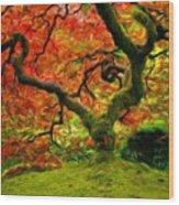 Art Of Landscape Wood Print