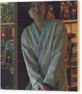4625- Shop Girl Wood Print