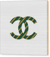 Chanel Style Png Wood Print