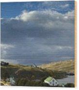 Landscape Oil Painting Wood Print