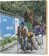 4714- Bicycle Vender Wood Print