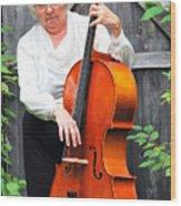 Female Cellist. Wood Print