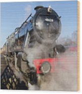 48624 Steam Locomotive Wood Print