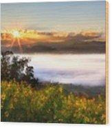 Oil Canvas Landscape Wood Print