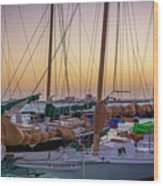4956- Key West Harbor At Sunset Wood Print