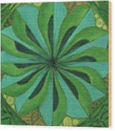 4th Mandala - Heart Chakra Wood Print