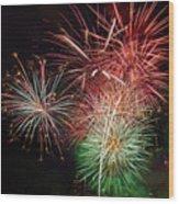 4th Of July Fireworks Display Portland Oregon Wood Print