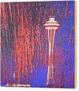 4th Space Needle Wood Print