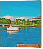 4x1 Downtown Tampa Panorama Wood Print