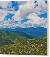 4x1 Philippines Panorama Baguio Wood Print
