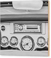 1954 Chevrolet Corvette Dashboard Wood Print