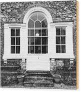 A Building Exterior  Wood Print