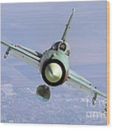 A Bulgarian Air Force Mig-21bis Armed Wood Print