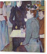 A Corner Of The Moulin De La Galette Wood Print