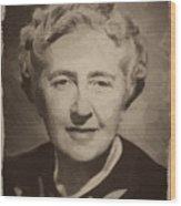 Agatha Christie 2 Wood Print