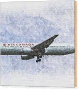 Air Canada Boeing 777 Art Wood Print