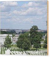 Arlington Cemetery Wood Print