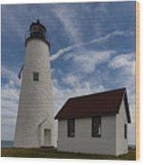 Bakers Island Lighthouse Salem Wood Print