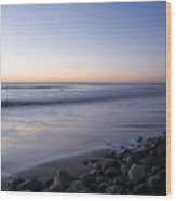 Ballynaclash Beach At Dawn Wood Print
