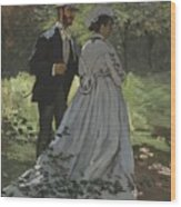 Bazille And Camille Wood Print