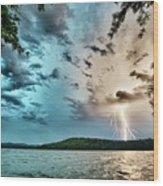 Beautiful Landscape Scenes At Lake Jocassee South Carolina Wood Print