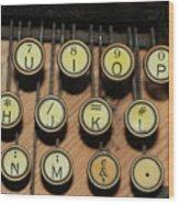 Before Microsoft Word Wood Print
