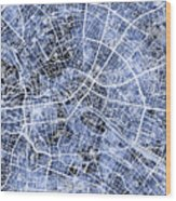 Berlin Germany City Map Wood Print