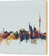 Berlin Germany Skyline Wood Print