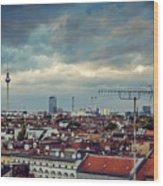 Berlin Skyline Wood Print